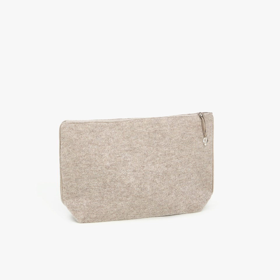 CASHMERE TOILETRY BAG