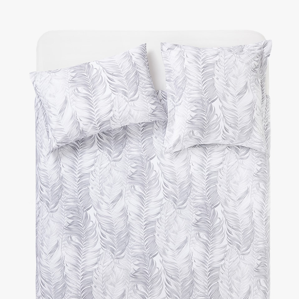 PALM TREE LEAVES PRINT DUVET COVER