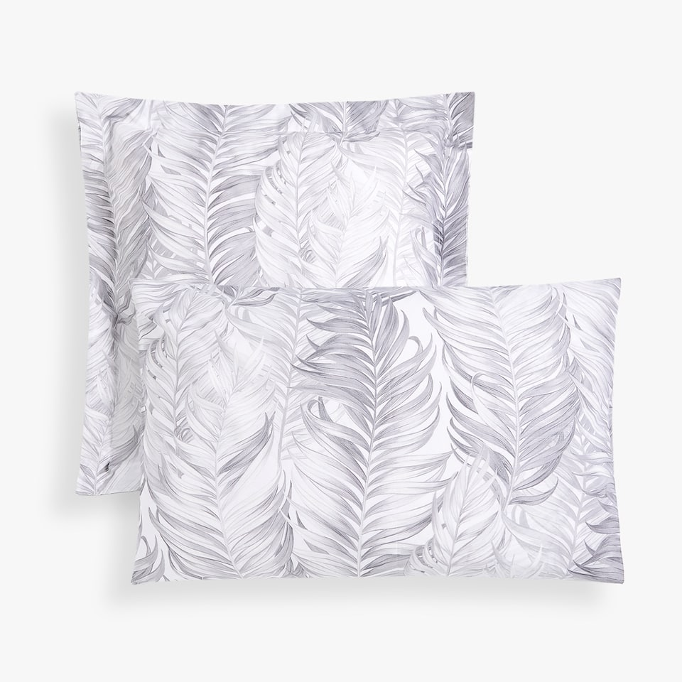 PALM TREE LEAVES PRINT PILLOWCASE