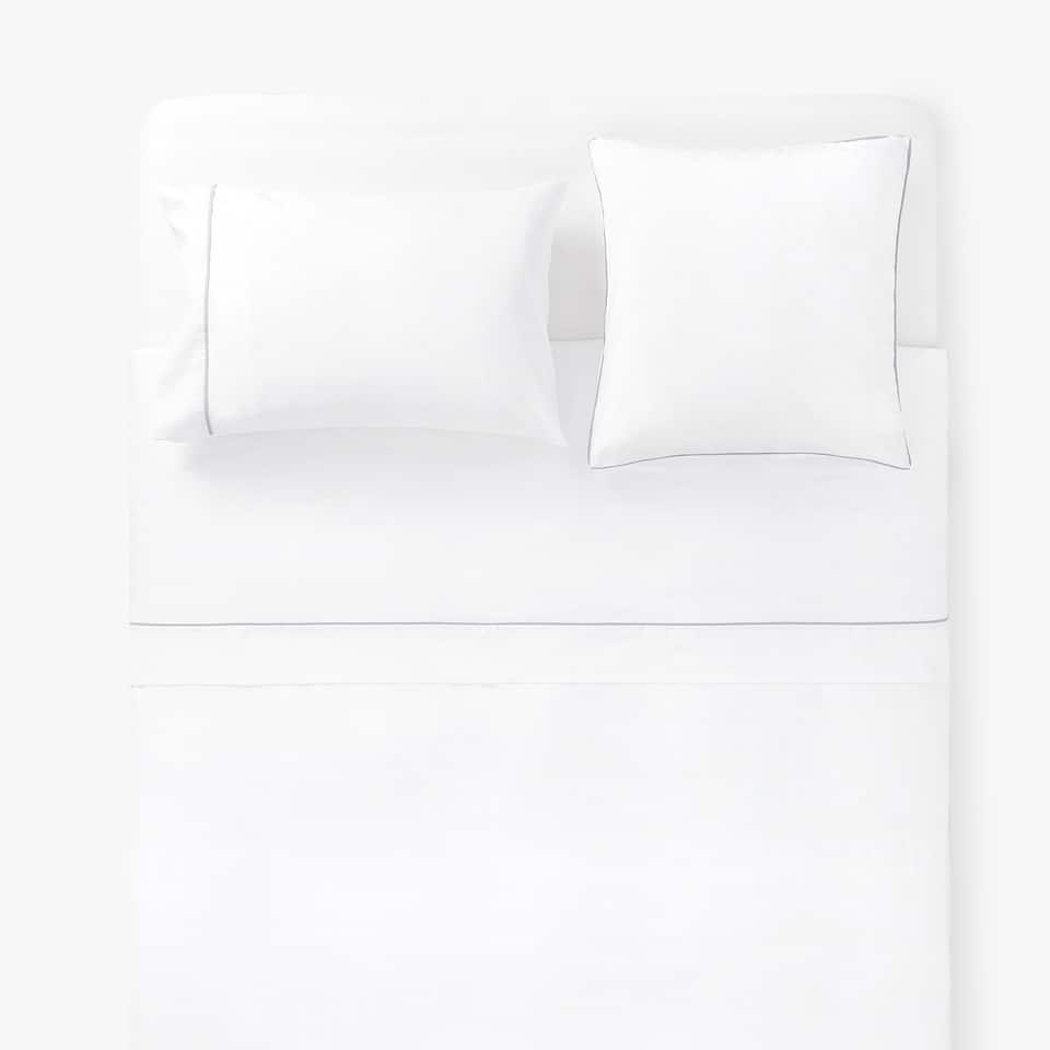 WAFFLE TEXTURE DUVET COVER WITH CONTRASTING PIPING