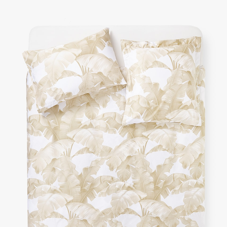 TROPICAL LEAVES PRINT DUVET COVER