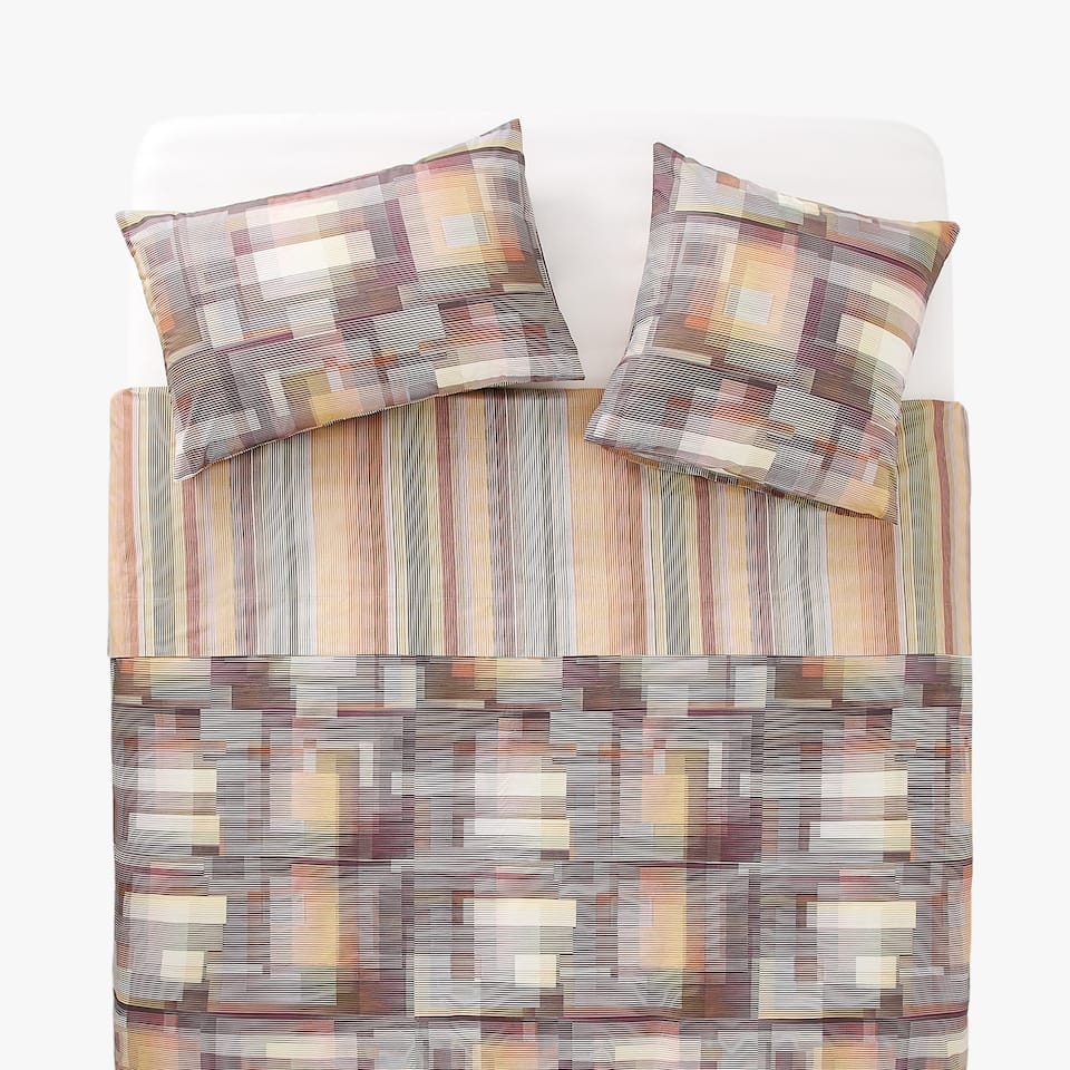 MULTICOLOURED GEOMETRIC PRINT DUVET COVER