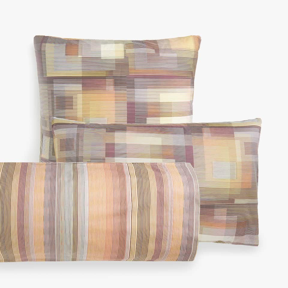 MULTICOLOURED GEOMETRIC PRINT PILLOW CASE
