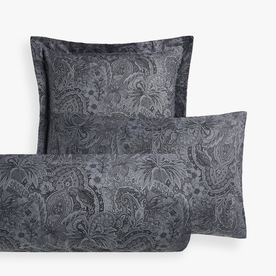 MONOCHROME PASILEY PRINT PILLOW CASE