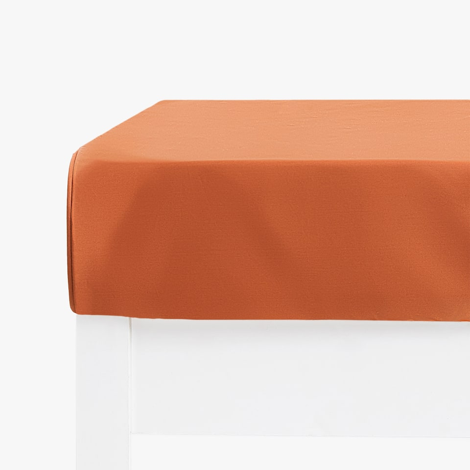 TERRACOTTA SATEEN FITTED SHEET