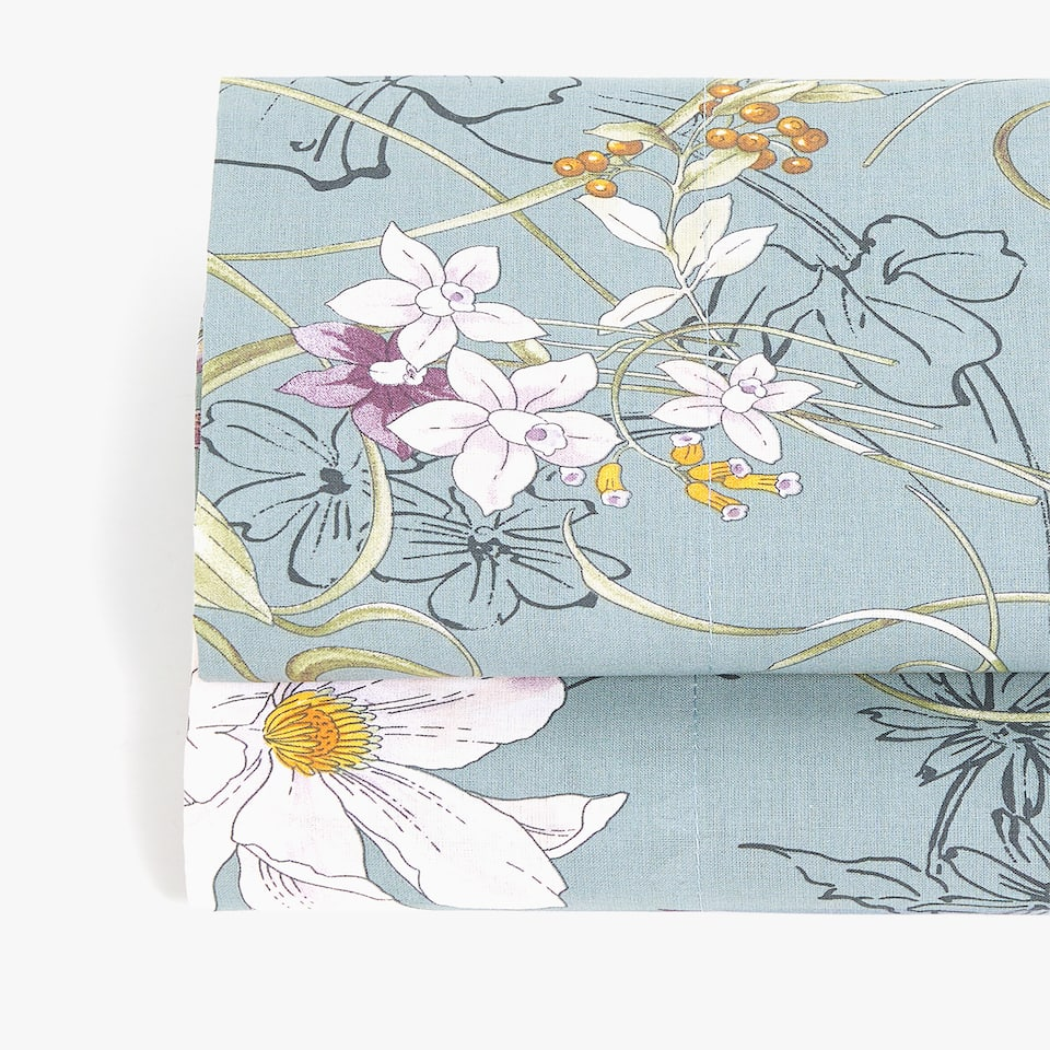 MULTICOLOURED FLORAL PRINT FLAT SHEET