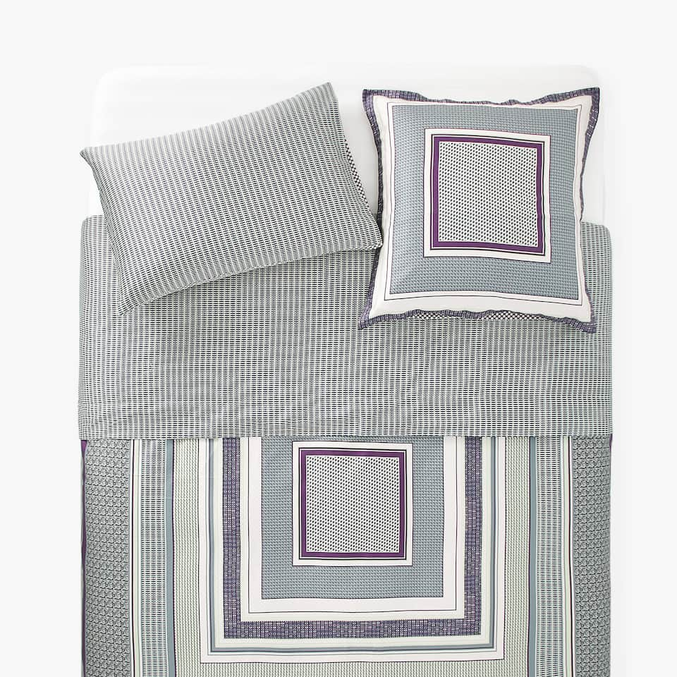 SATEEN DUVET COVER WITH PRINTED PATTERN