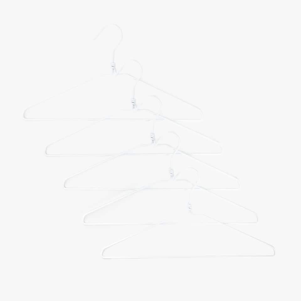 WHITE HANGER (SET OF 5)