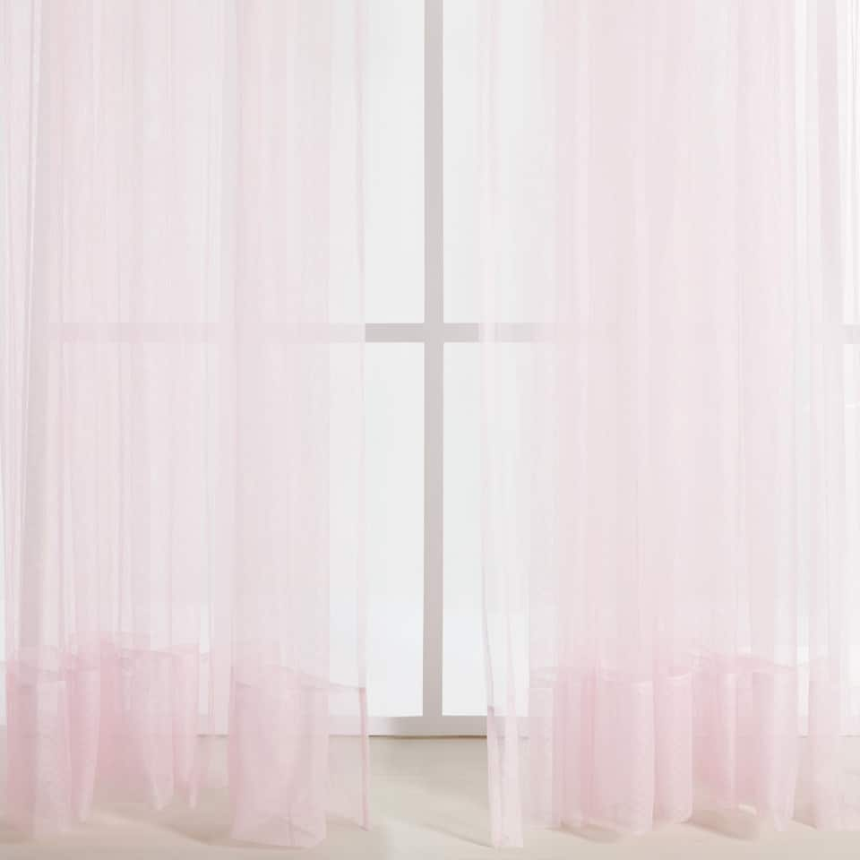 PINK TULLE CURTAIN