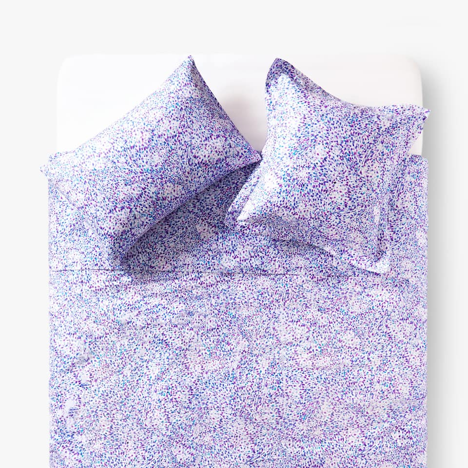 IRREGULAR POINTILLIST PRINT DUVET COVER