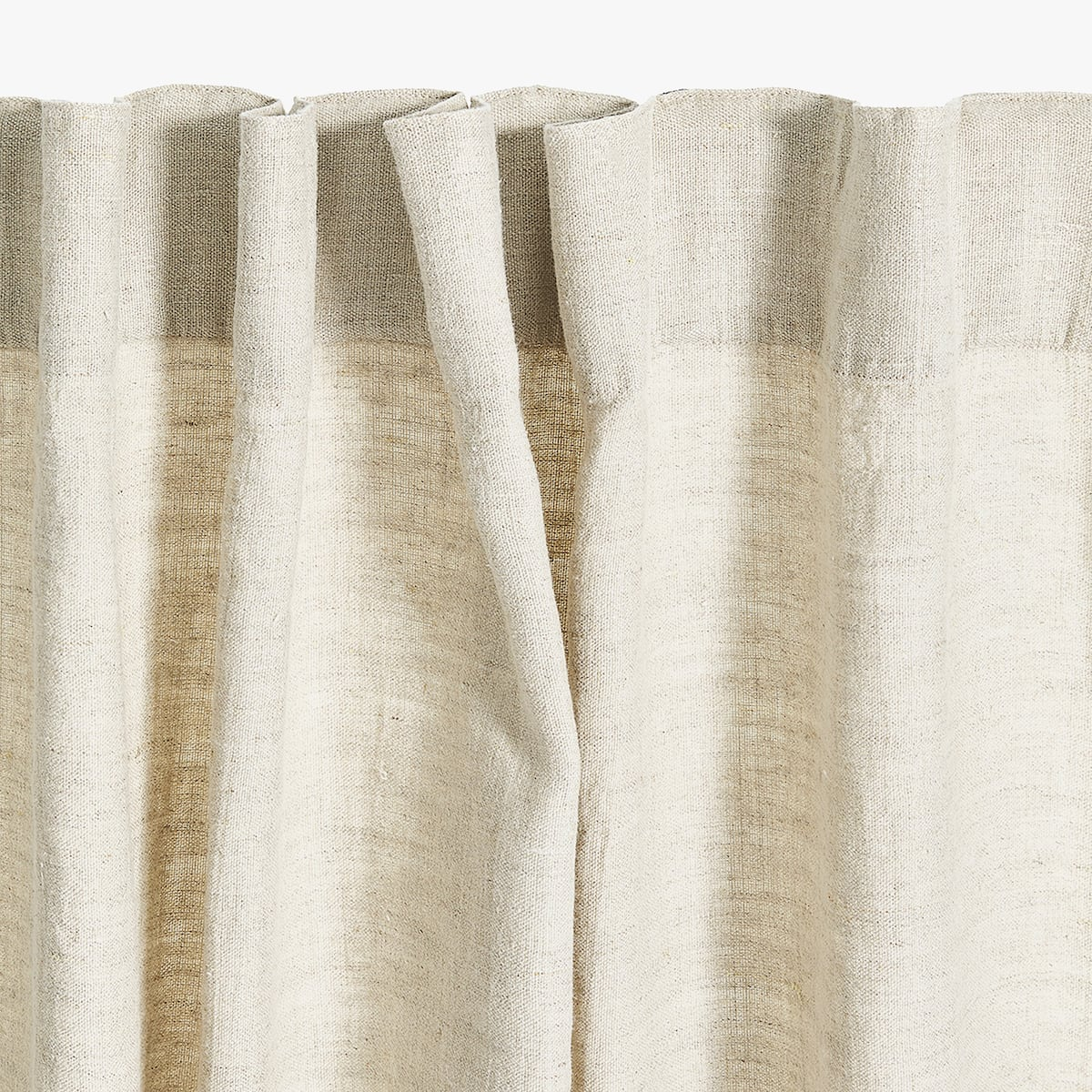 + Image 4 Of The Product LINEN CURTAIN WITH STRIPED PANEL