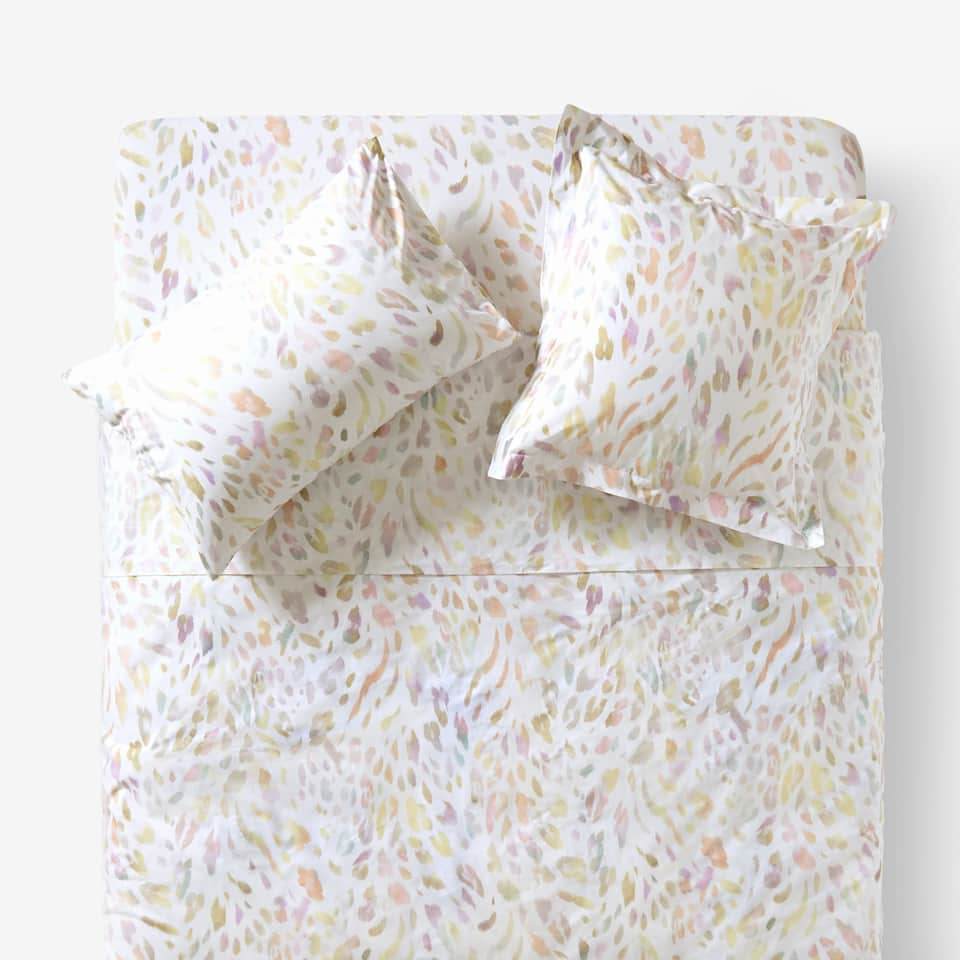 MULTICOLORED ANIMAL PRINT DUVET COVER