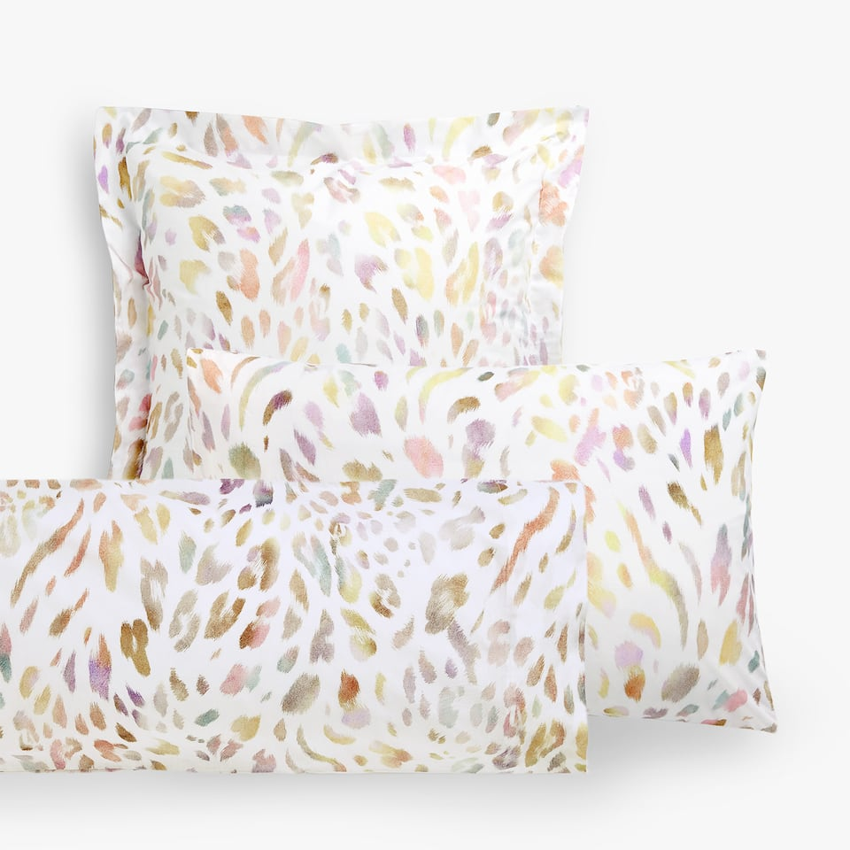 MULTICOLOURED ANIMAL PRINT PILLOWCASE