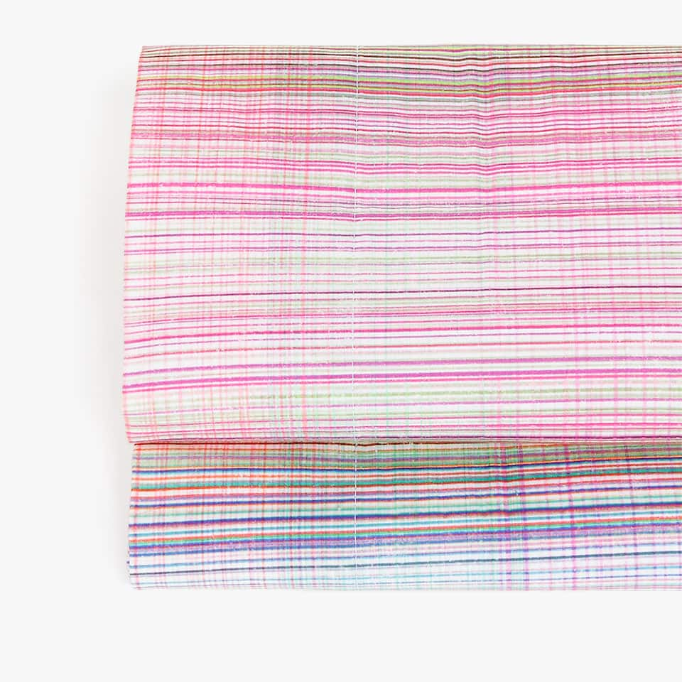 MULTICOLOURED STRIPE PRINT FLAT SHEET