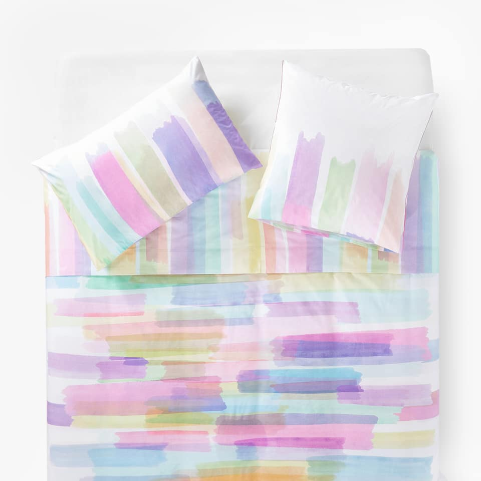 PAINTBRUSH-EFFECT DUVET COVER