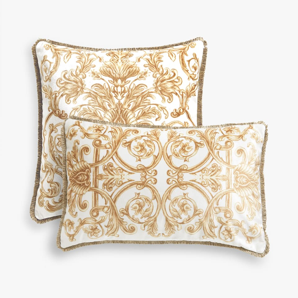 GOLD PRINT CUSHION COVER