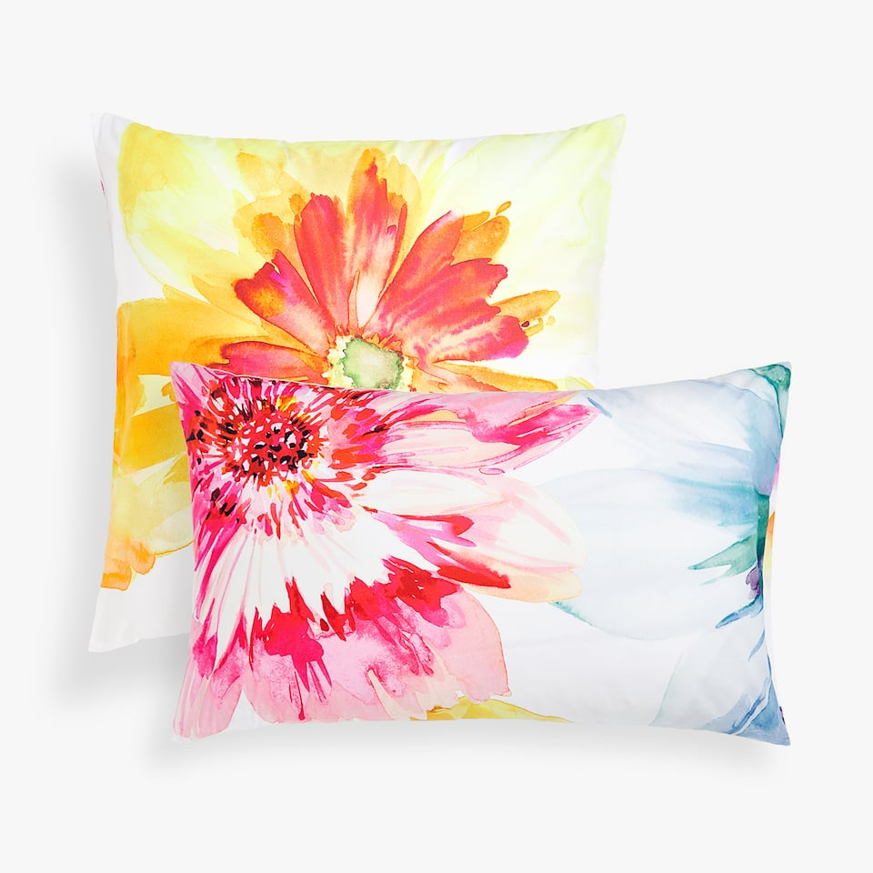MAXI FLOWERS PRINT PILLOWCASE