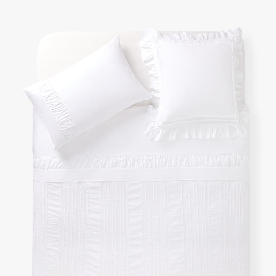 FADED COTTON PERCALE DUVET COVER