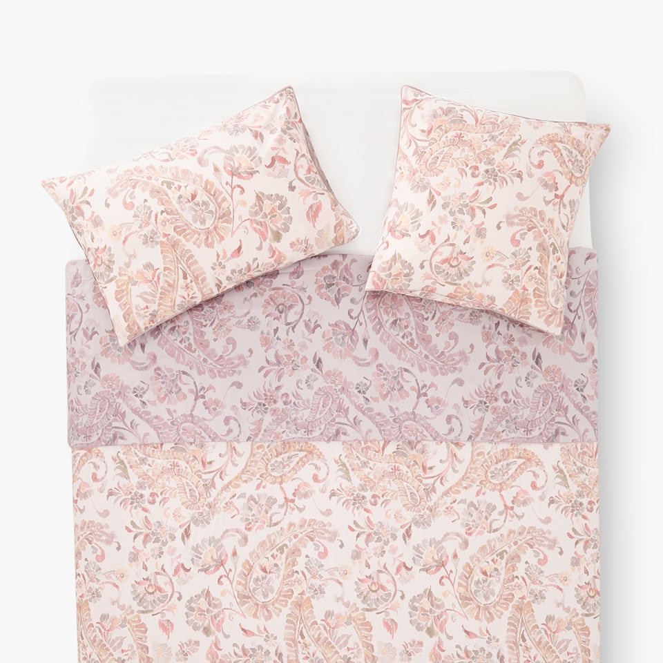 DUVET COVER WITH OVERSIZED IKAT PAISLEY PRINT