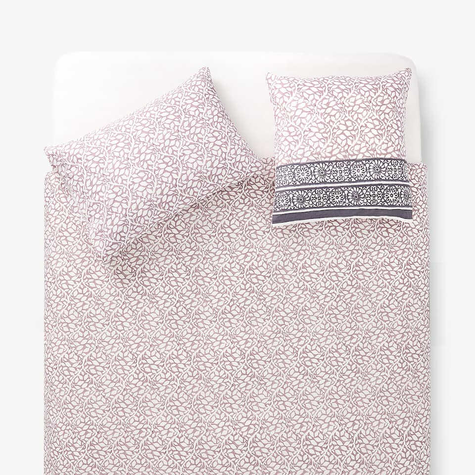 OMBRÉ DUVET COVER WITH FLORAL PRINT