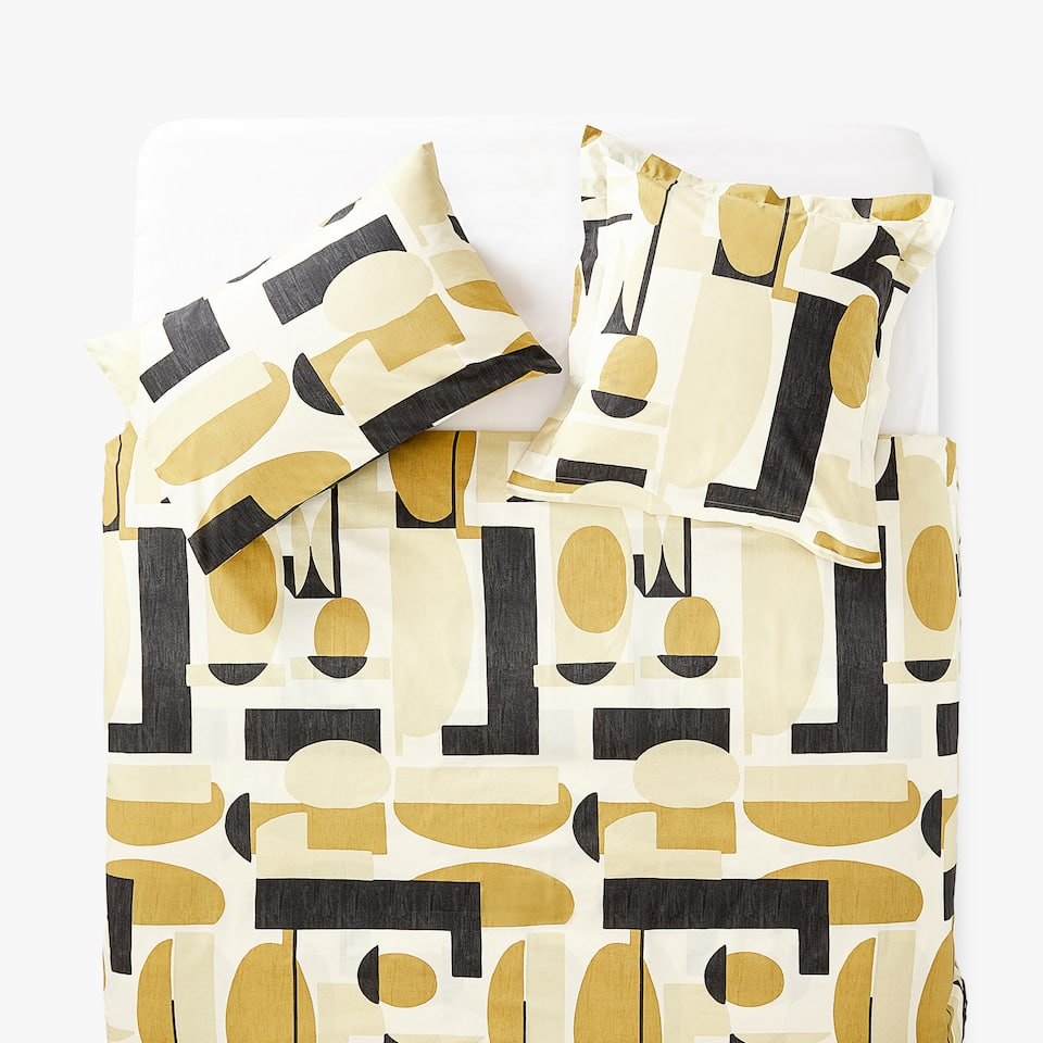 DUVET COVER WITH OVERSIZED GEOMETRIC PRINT