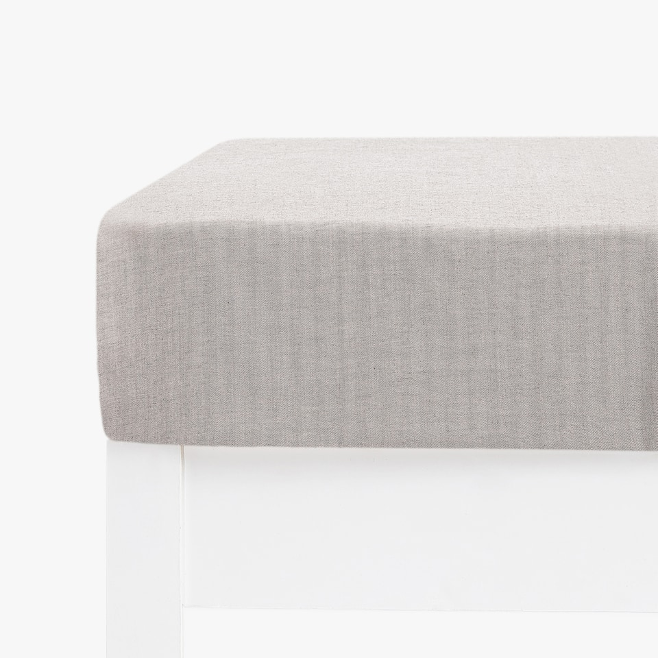 COTTON CASHMERE FITTED SHEET