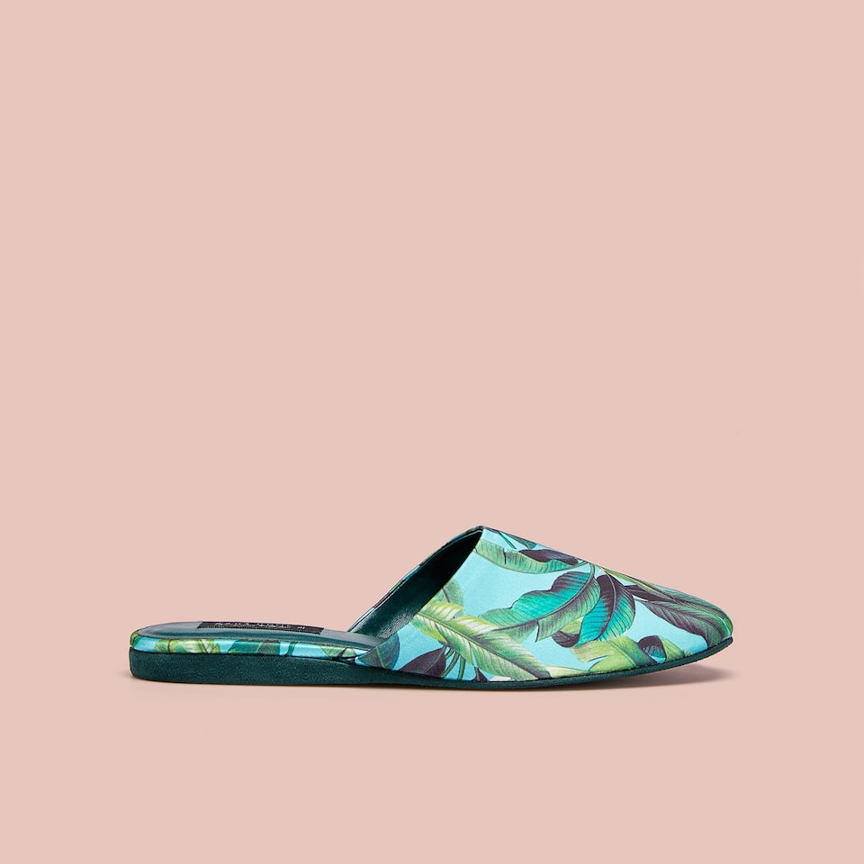 TROPICAL PRINT MULES