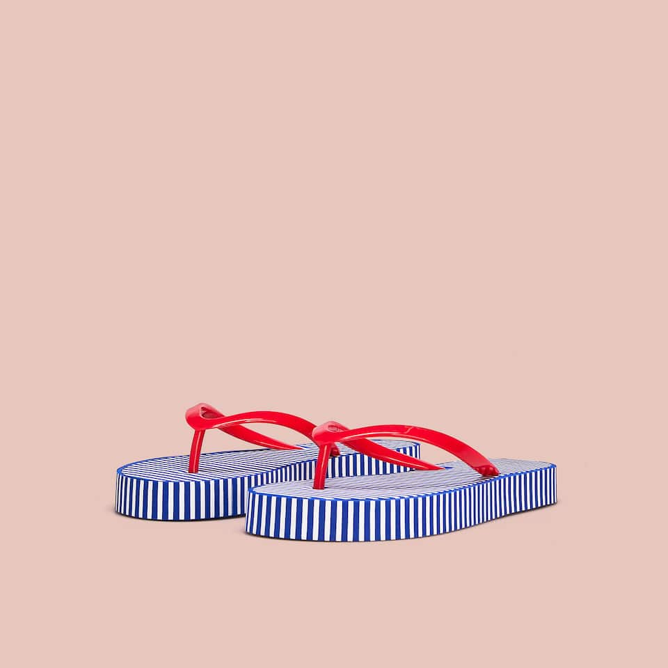Striped beach sandals