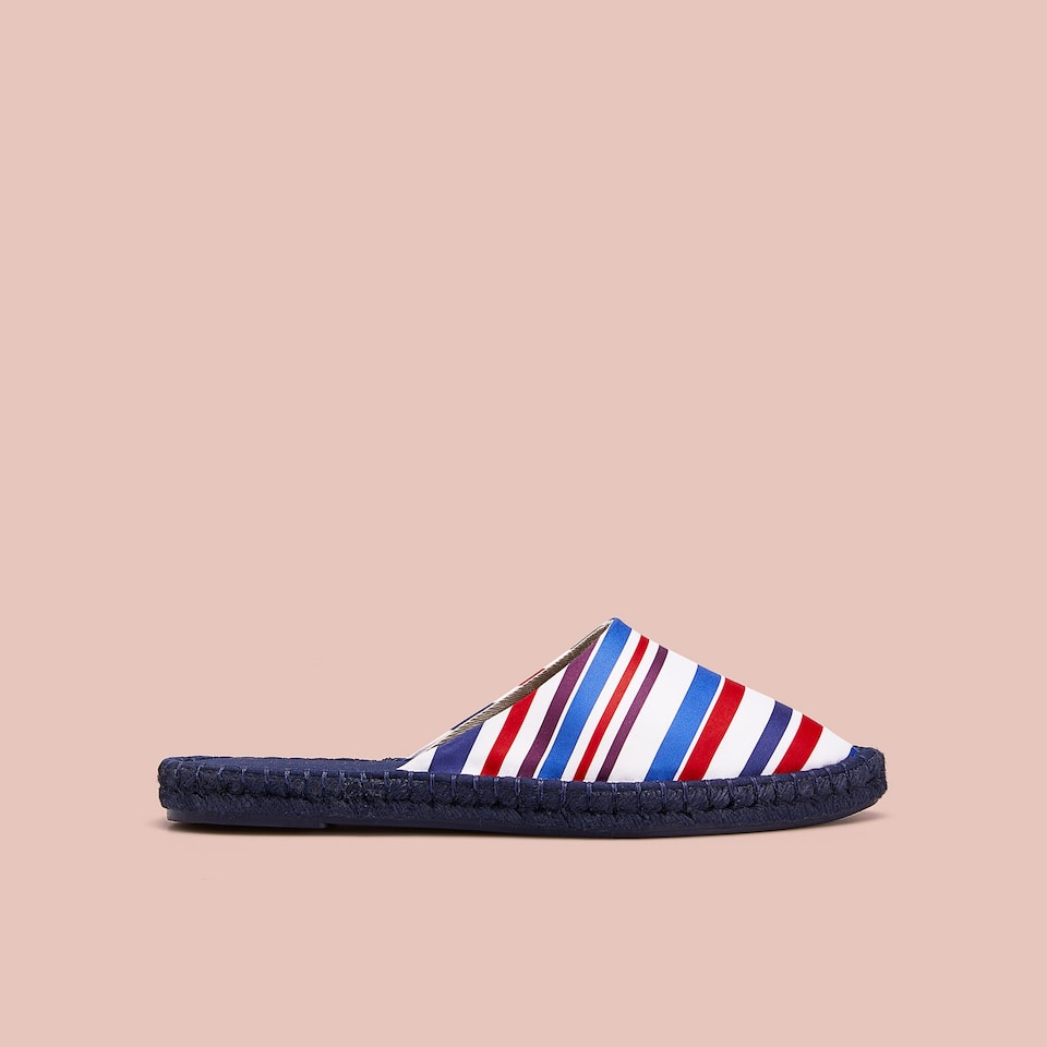 STRIPED JUTE MULES
