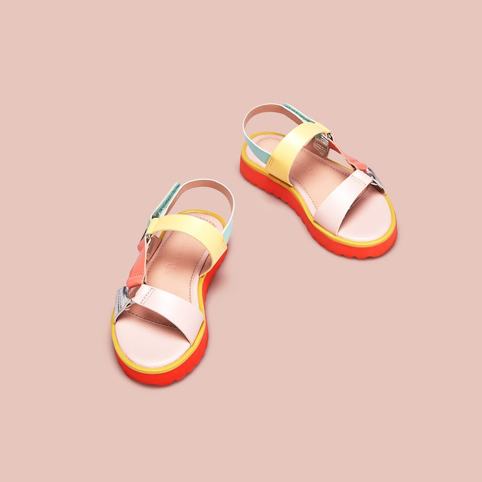 MULTICOLOURED SANDALS