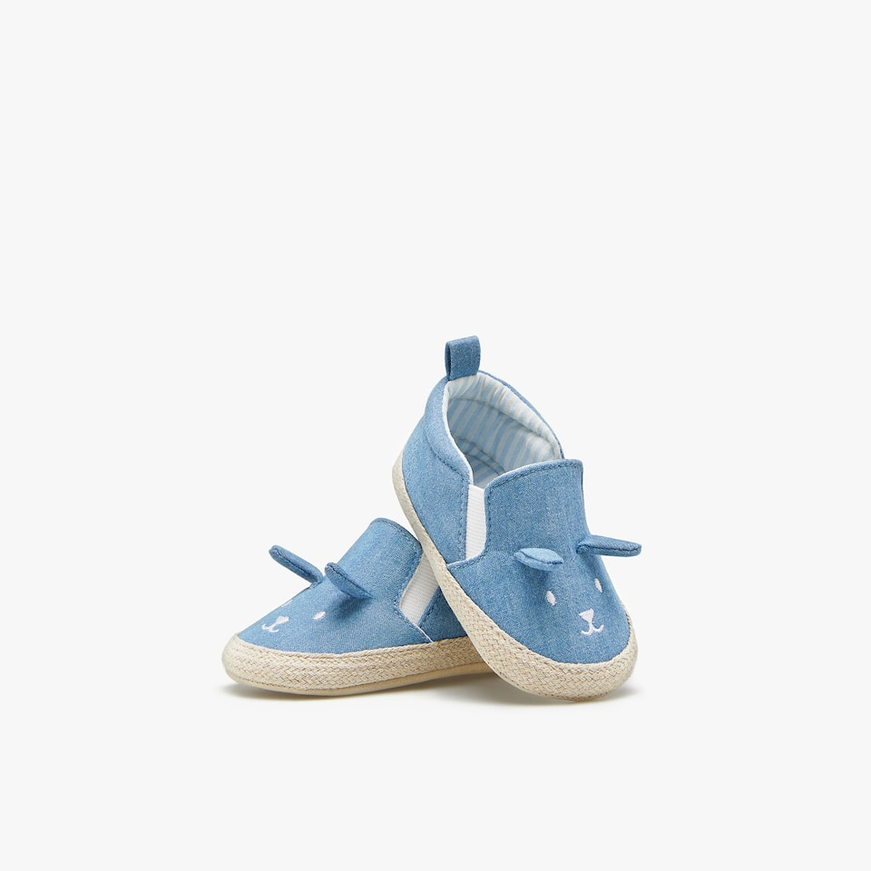 DENIM-BABYSCHUHE IN TIERCHENOPTIK