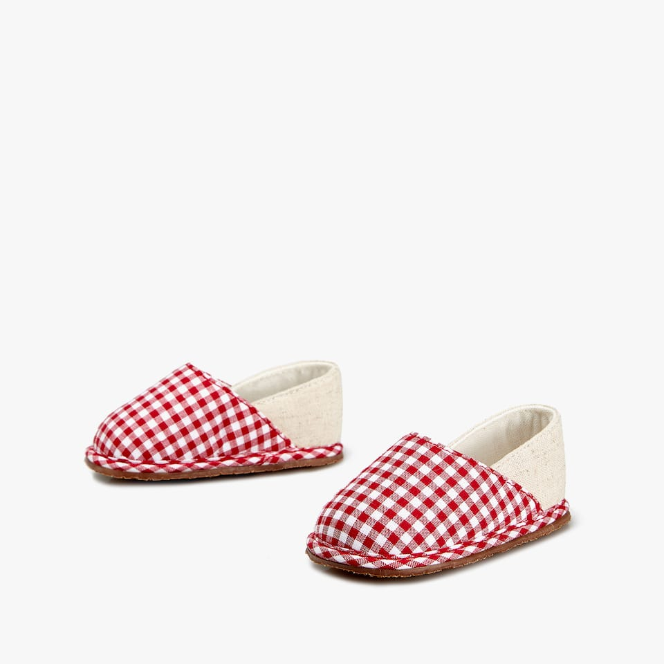 GINGHAM FABRIC BOOTIES