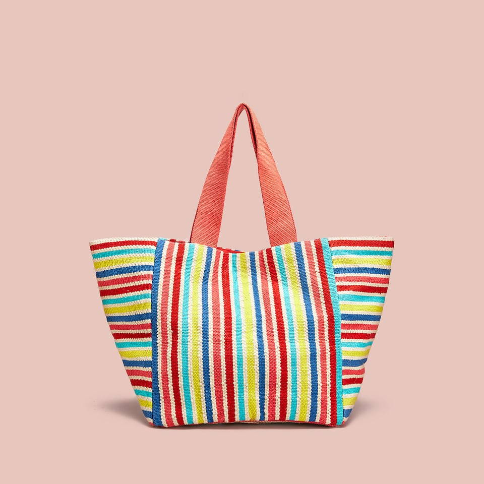 COLOURFUL FABRIC TOTE BAG