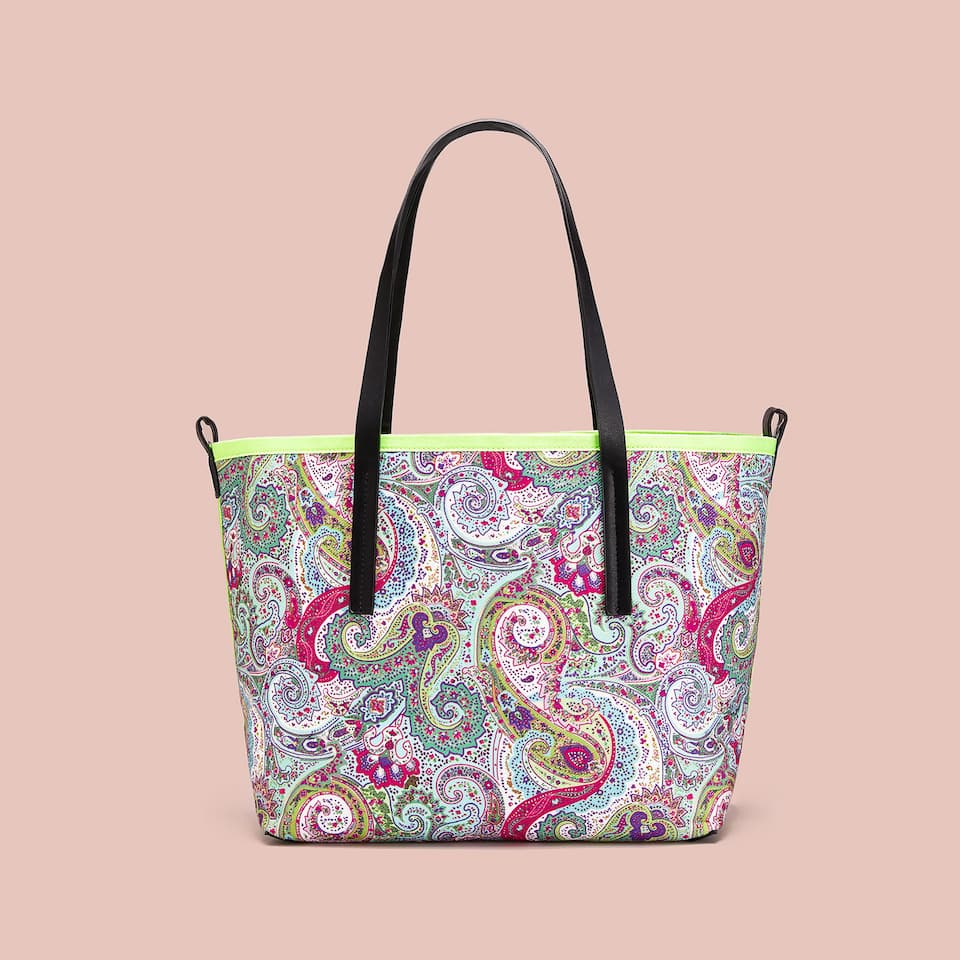 PAISLEY FABRIC TOTE BAG