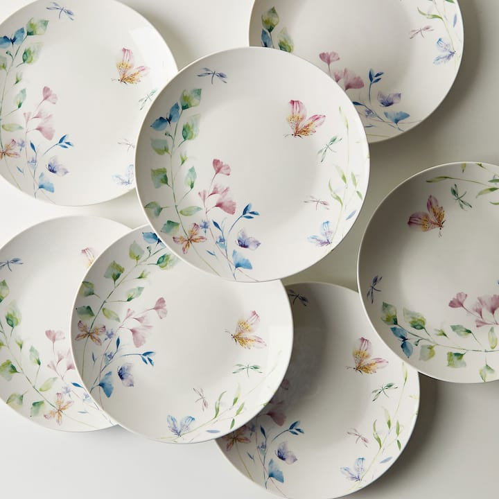 FLORAL TRANSFER PORCELAIN DESSERT SET TABLEWARE & COFFEE AND TEA - TABLEWARE | Zara Home Australia