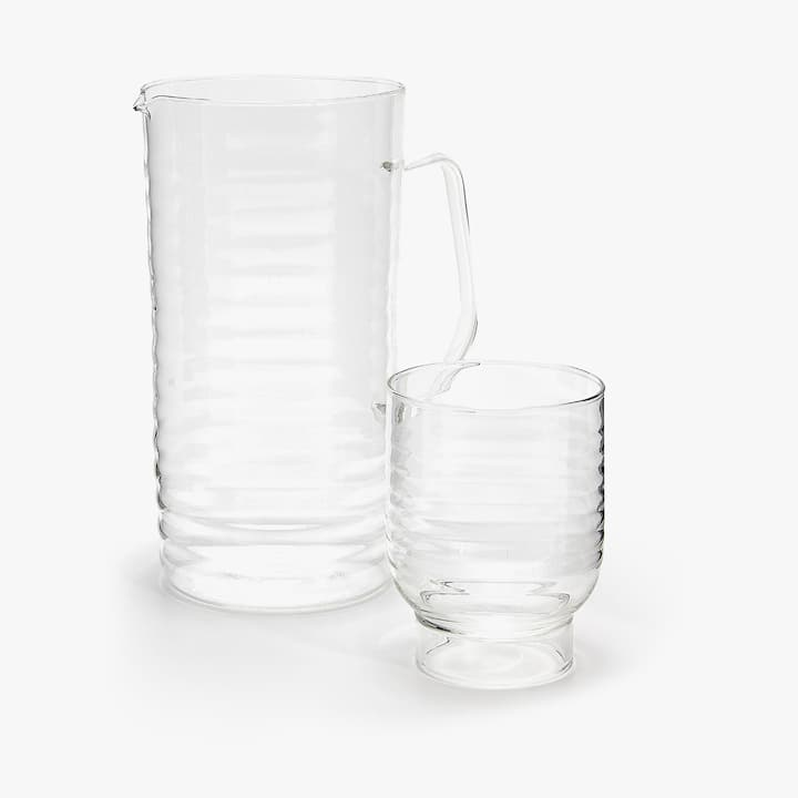 BOROSILICATE GLASS SET WITH WAVY DETAIL