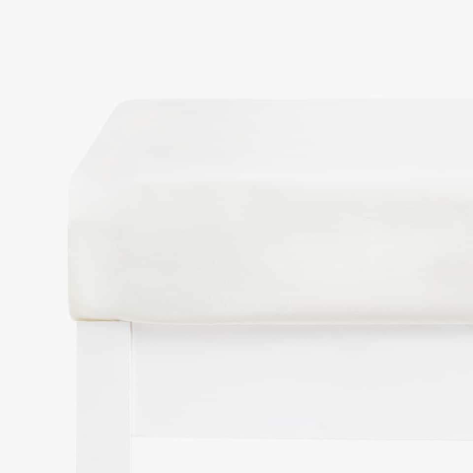 Базовая натяжная простыня из перкаля (высота до 28 см)