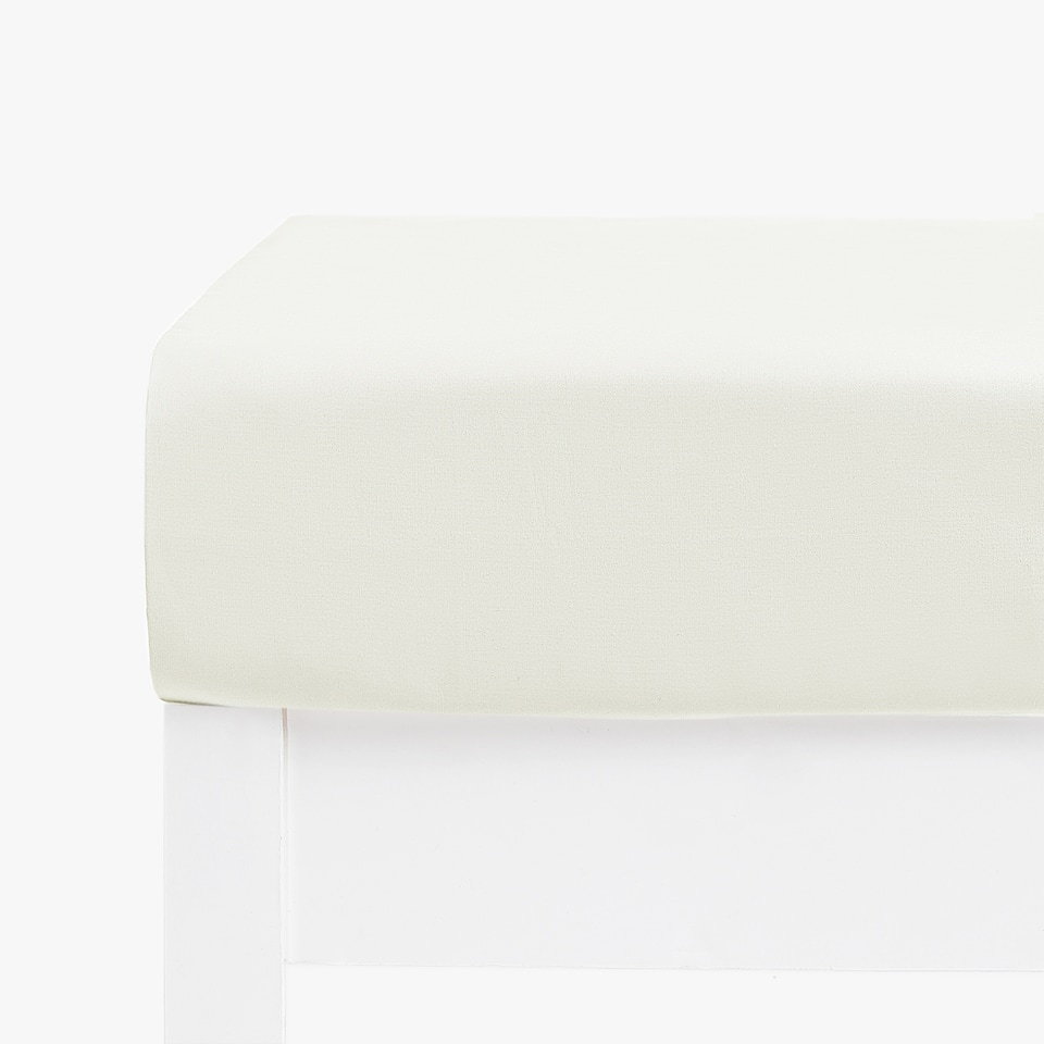 Basic Cotton Percale Fitted Sheet (Mattresses of up to 40 cm thick)