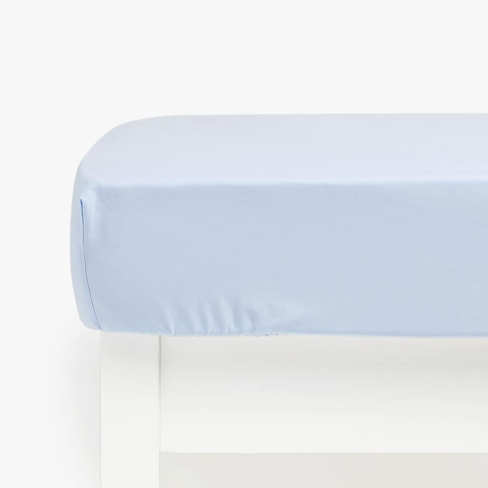 Kids Basic Cotton Percale Fitted Sheet (Mattresses of up to 28 cm thick)