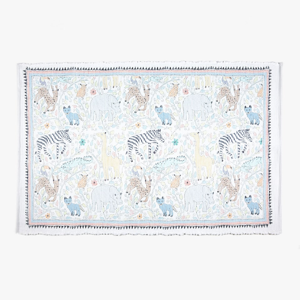 TAPIS MULTICOLORE ANIMAUX