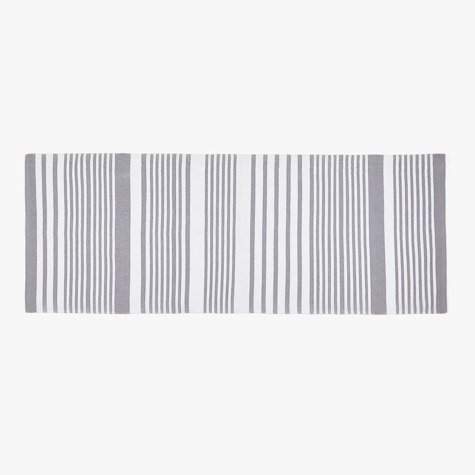 STRIPED COTTON HALL RUG