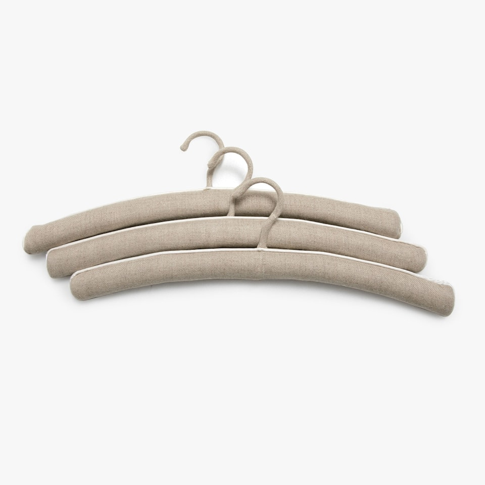 PLAIN LINEN HANGER (SET OF 3)