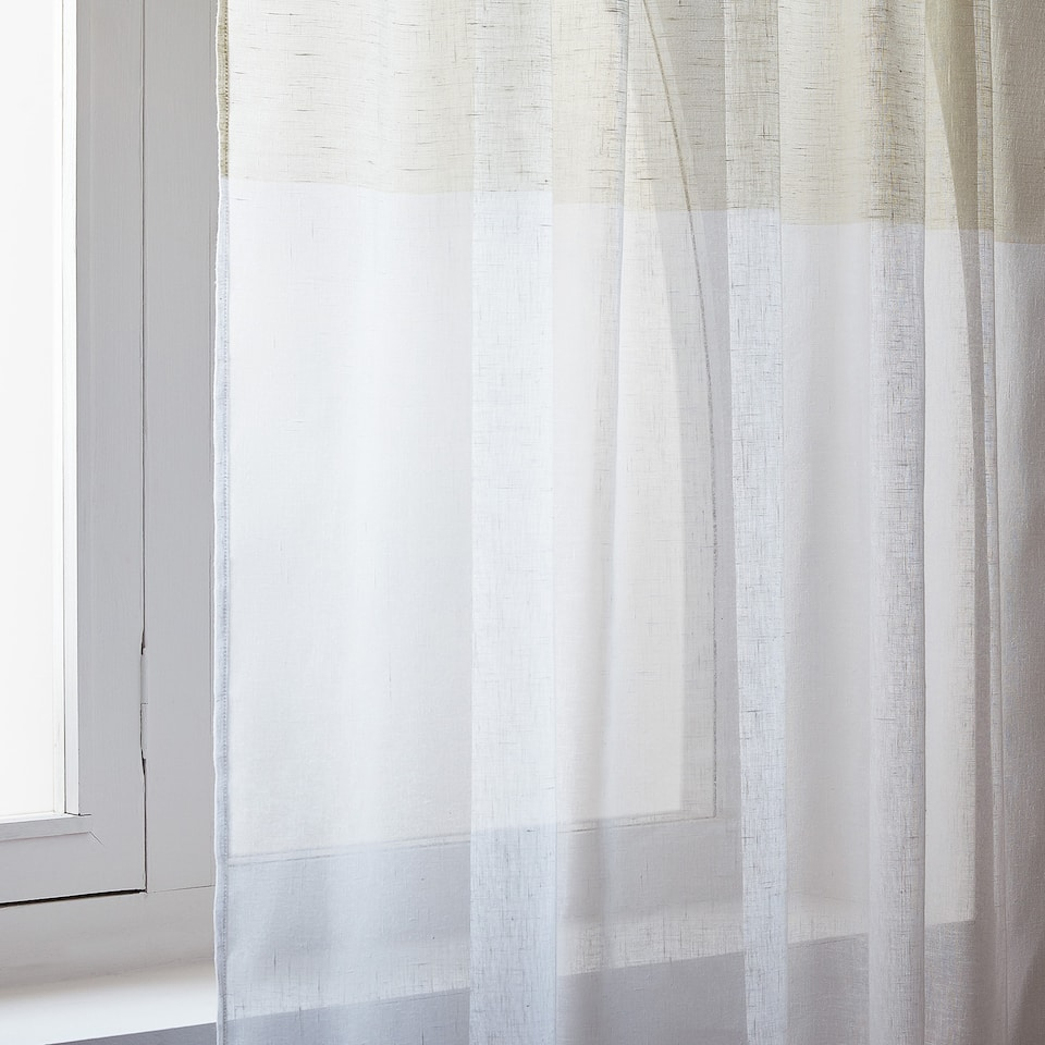 SHEER TWO-TONE PANEL CURTAIN