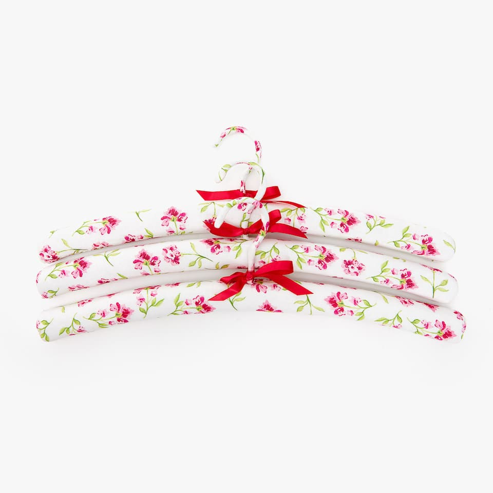 PERCHA ESTAMPADO FLORAL (SET DE 3)