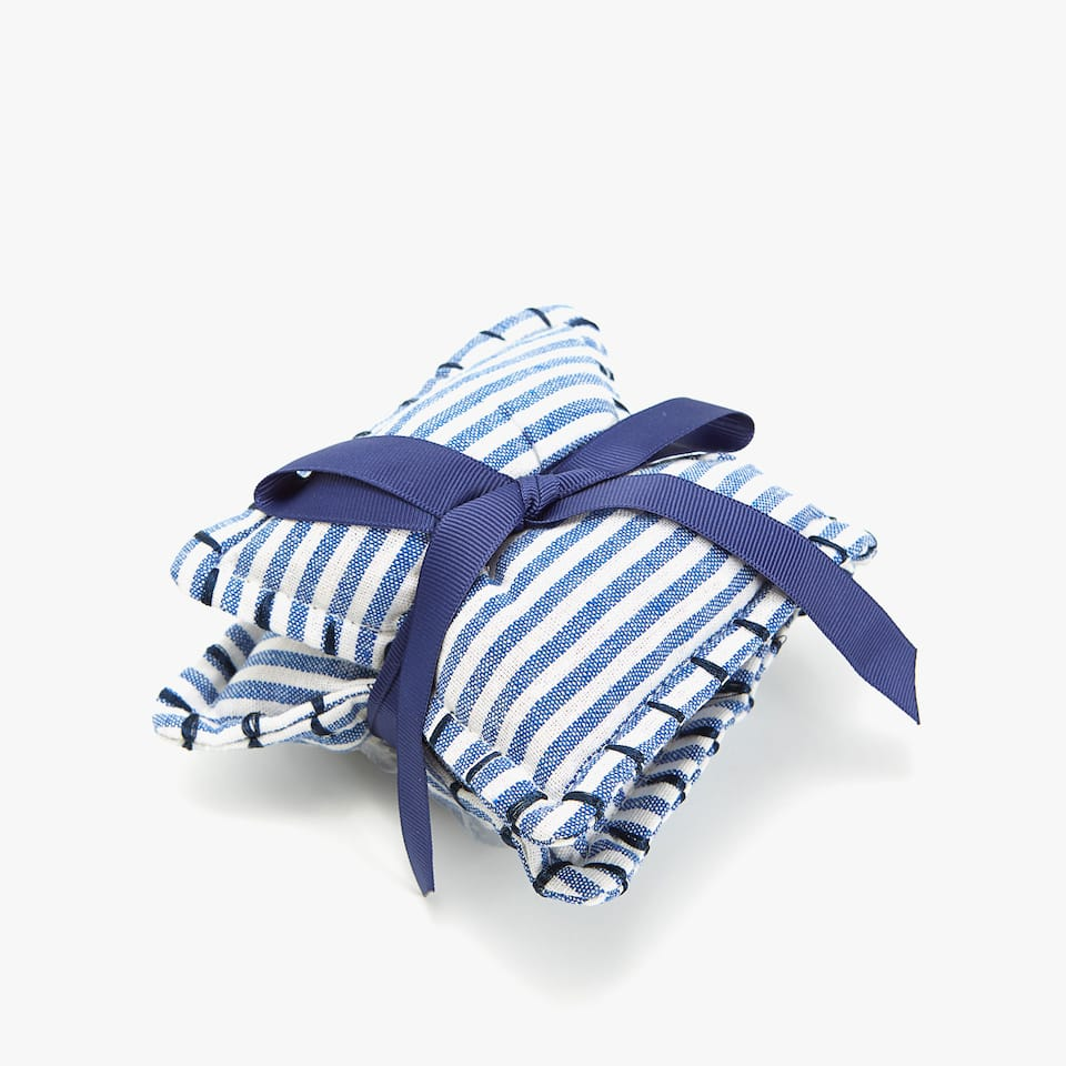 TWO-TONE STRIPED SCENTED SACHET (SET OF 2)