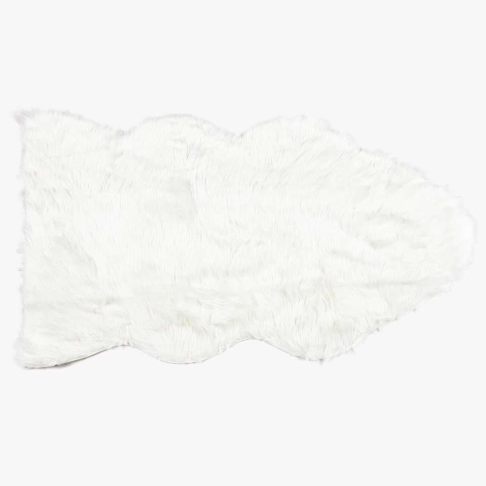 FAUX FUR WHITE RUG