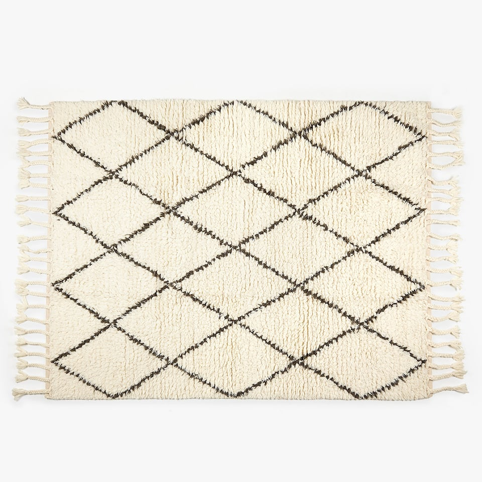 GEOMETRIC DESIGN WOOL RUG