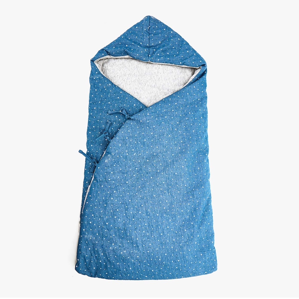 DENIM STAR PRINT SLEEPING BAG