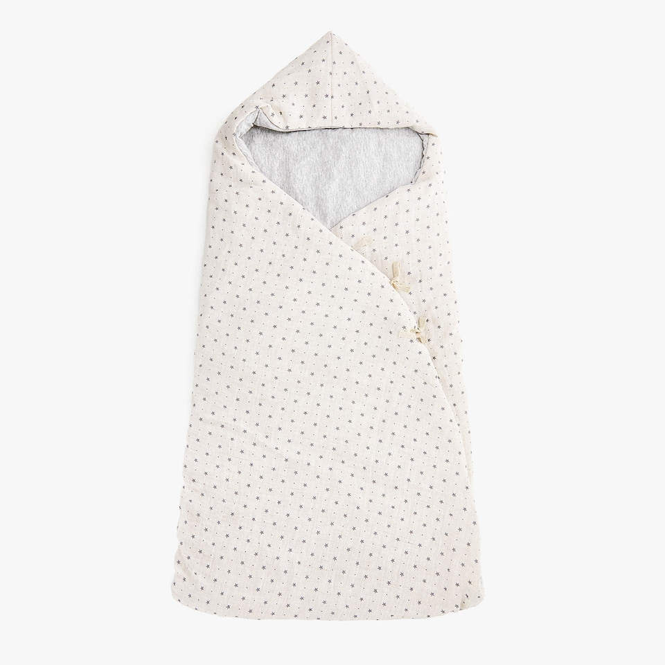 LINEN STAR PRINT SLEEPING BAG