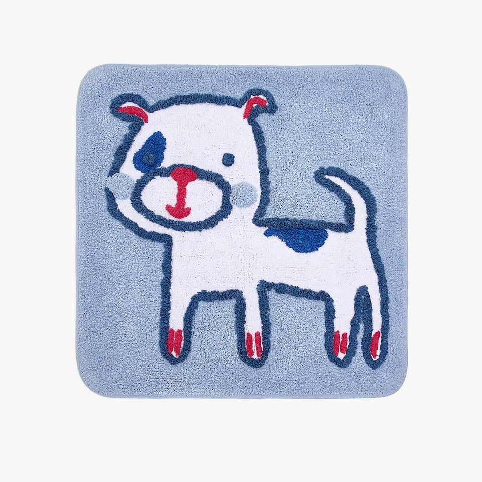 PUPPY COTTON BATH MAT